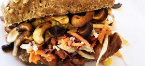 Black Bean & Mushroom Burger