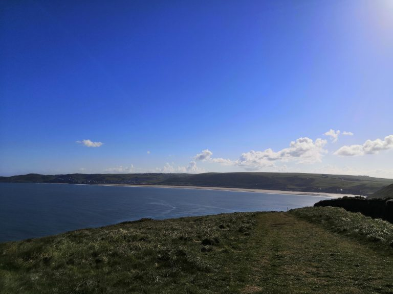 Baggy Point South West Coast Path looking at Woolacombe