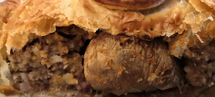 Mushroom, Lentil and Apricot Wellington
