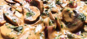Mushroom Stroganoff with Wild Garlic