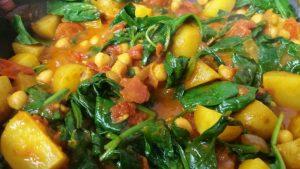 Potato, Spinach & Chickpea Curry