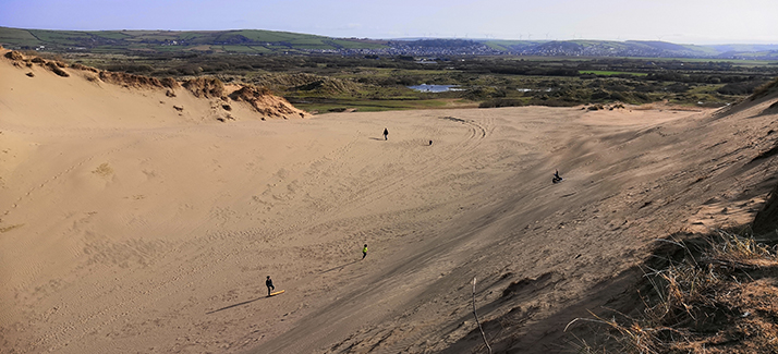 sand dune sandboarding braunton burrows