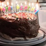 Vegan Chocolate Birthday Cake